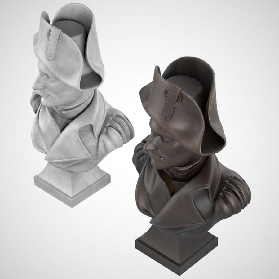 Busto de Napoleão royalty-free 3d model - Preview no. 5