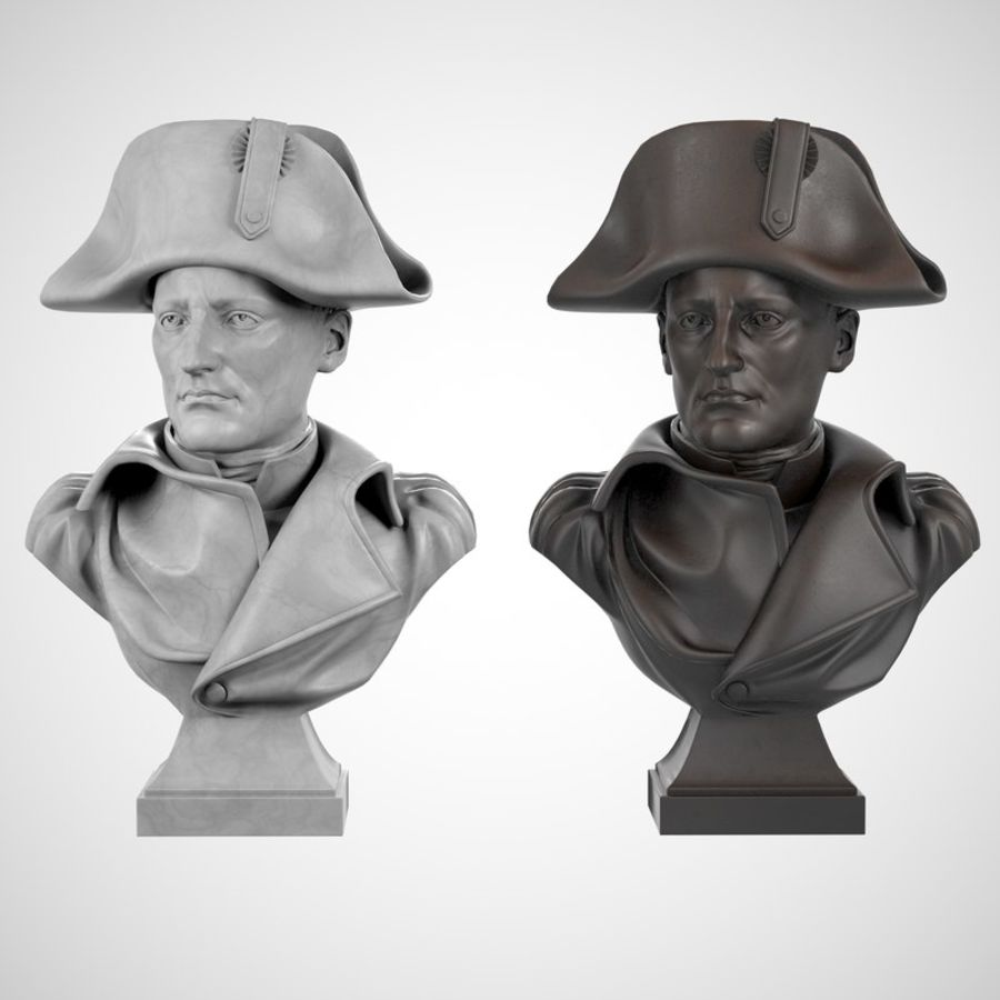Busto de Napoleão royalty-free 3d model - Preview no. 7