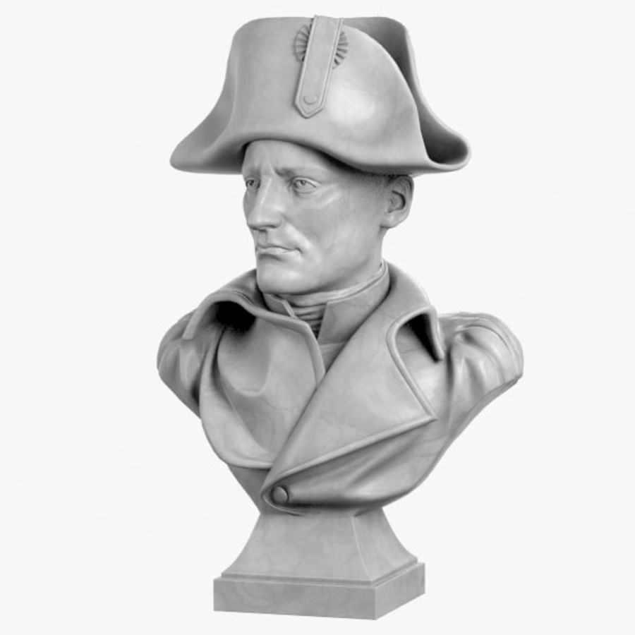 Busto de Napoleão royalty-free 3d model - Preview no. 1