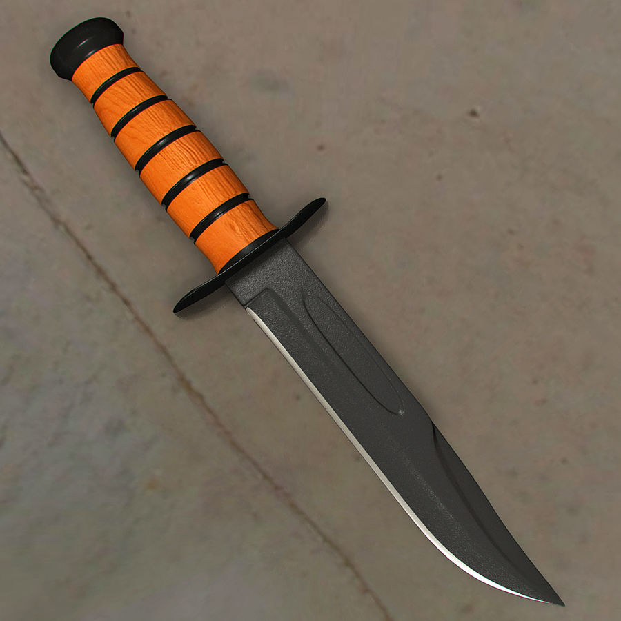 Survival Knife royalty-free 3d model - Preview no. 2