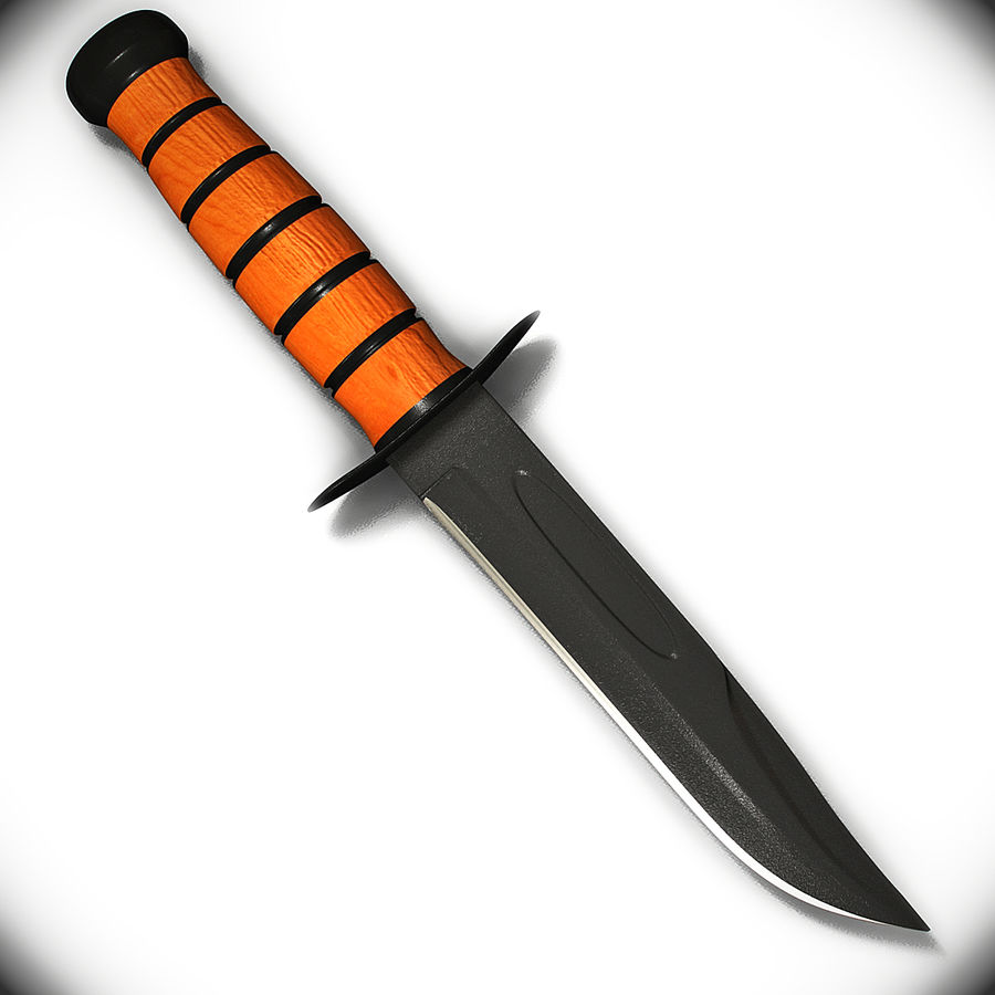 Survival Knife royalty-free 3d model - Preview no. 5