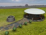 Gazebo Garden Pavilion Scene 3d model