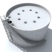 Reserva de petróleo modelo 3d