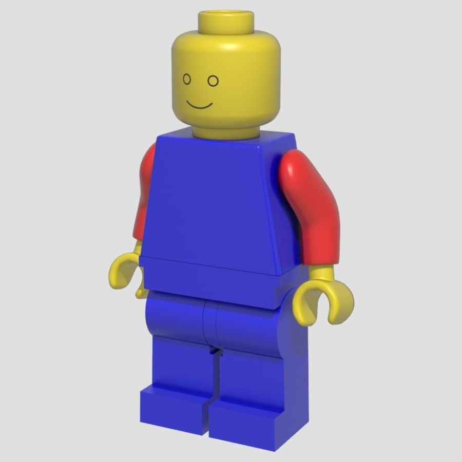 Lego Man royalty-free 3d model - Preview no. 1