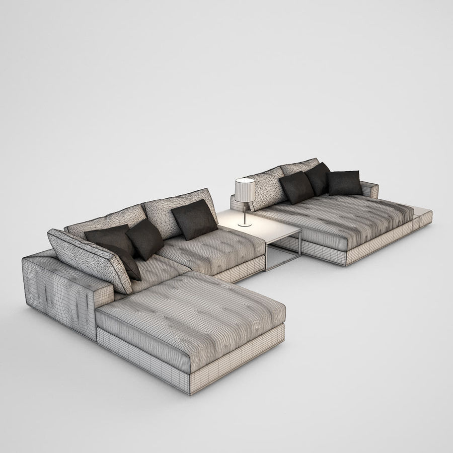 Realistic Sofa royalty-free 3d model - Preview no. 5