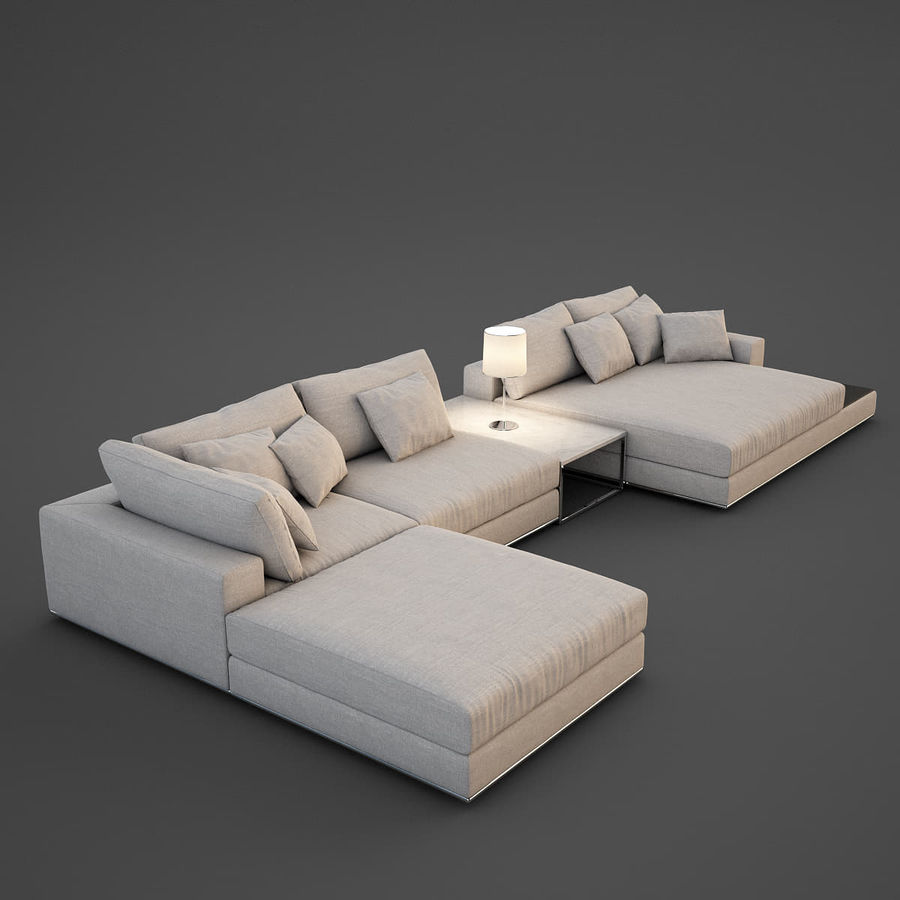 Realistic Sofa royalty-free 3d model - Preview no. 1