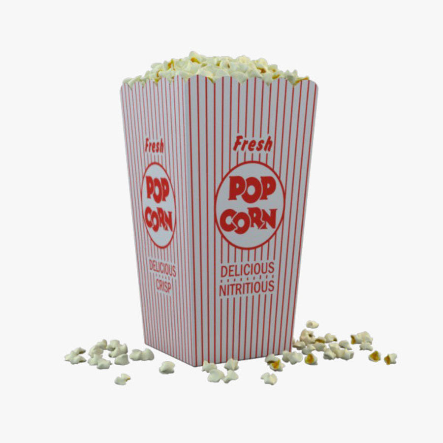 Popcorn in Box royalty-free 3d model - Preview no. 1