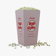 Popcorn in Box 3d model