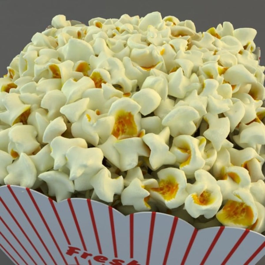 Popcorn in Box royalty-free 3d model - Preview no. 3