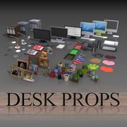Desk props 3d model
