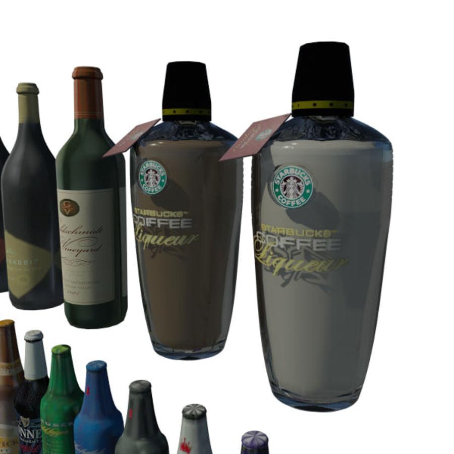 Alkohol och öl - Mental Ray royalty-free 3d model - Preview no. 3