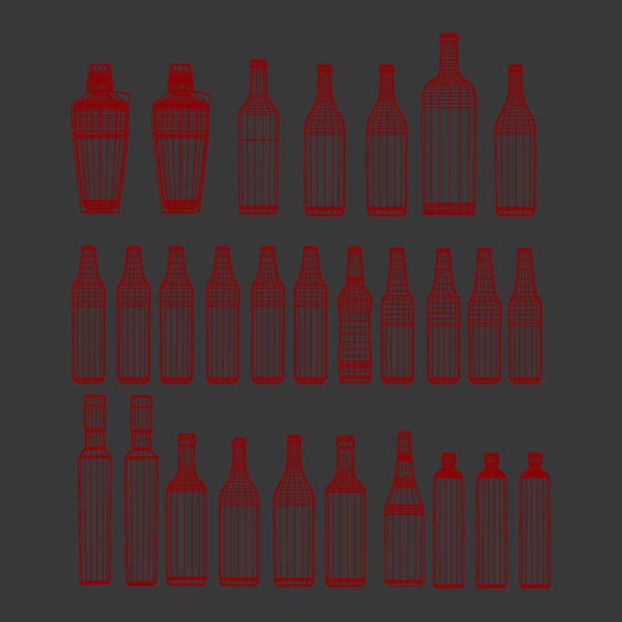 Alkohol och öl - Mental Ray royalty-free 3d model - Preview no. 4