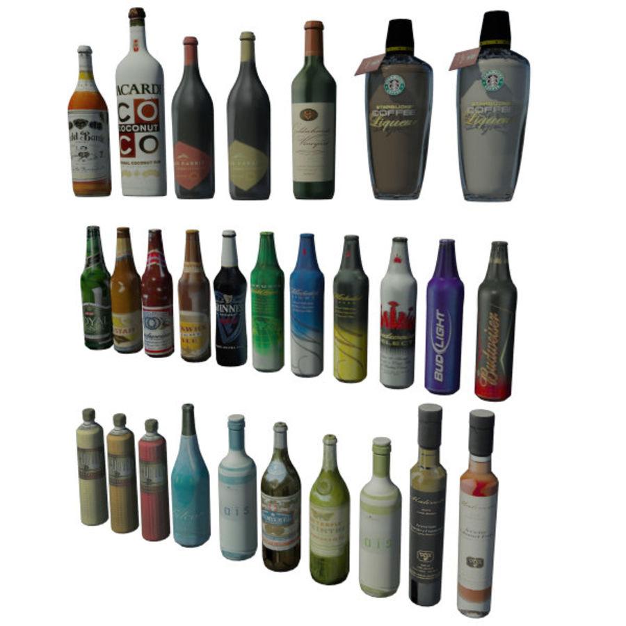 Alkohol och öl - Mental Ray royalty-free 3d model - Preview no. 1