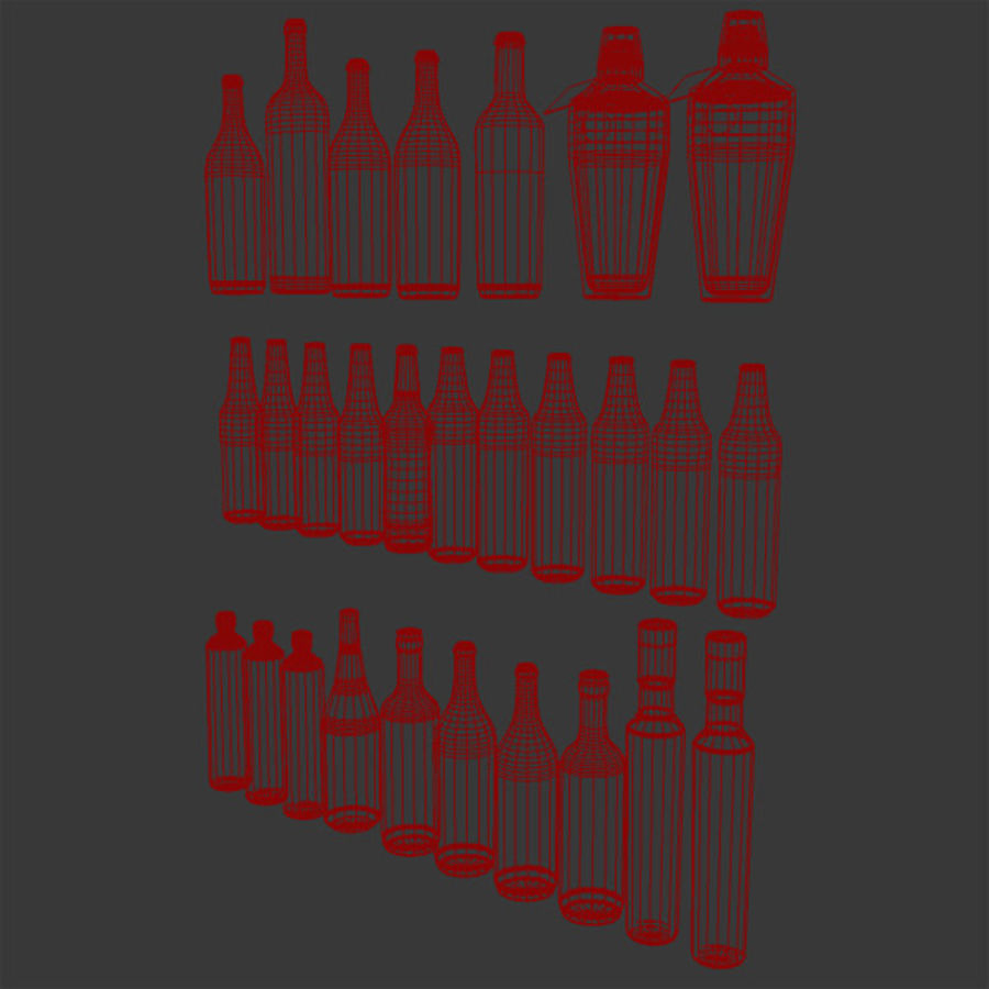 Alkohol och öl - Mental Ray royalty-free 3d model - Preview no. 5