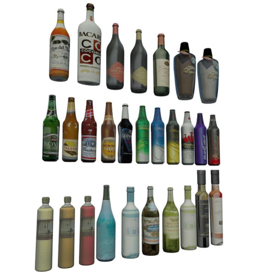Alkohol och öl - Mental Ray royalty-free 3d model - Preview no. 2