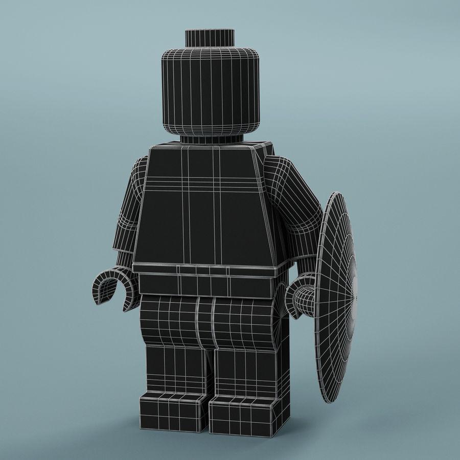 레고 캡틴 아메리카 royalty-free 3d model - Preview no. 7