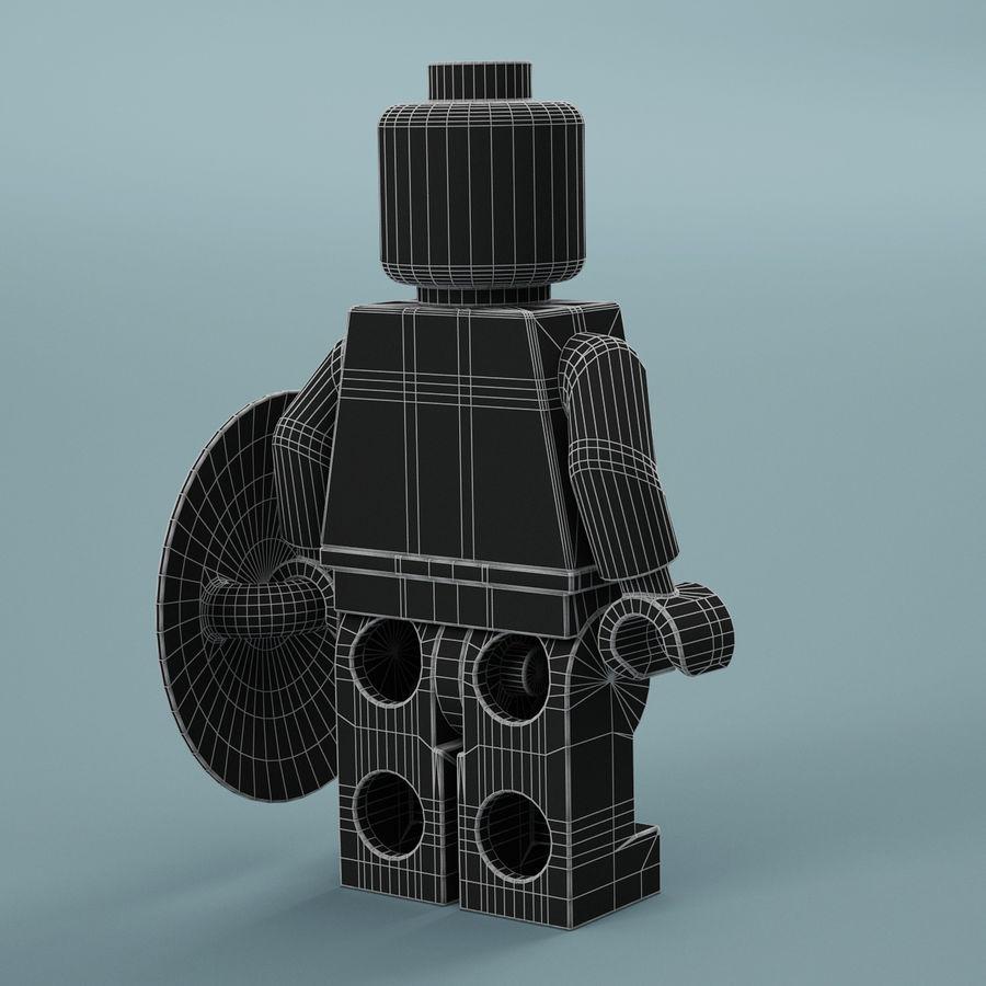 레고 캡틴 아메리카 royalty-free 3d model - Preview no. 8