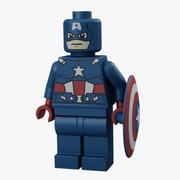 Lego Capitão América 3d model