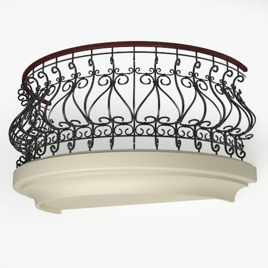Balcony royalty-free 3d model - Preview no. 1