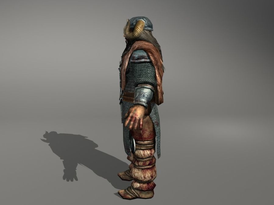 Viking (Low-poly) 3D Model $39 -  unknown  obj  3ds  max