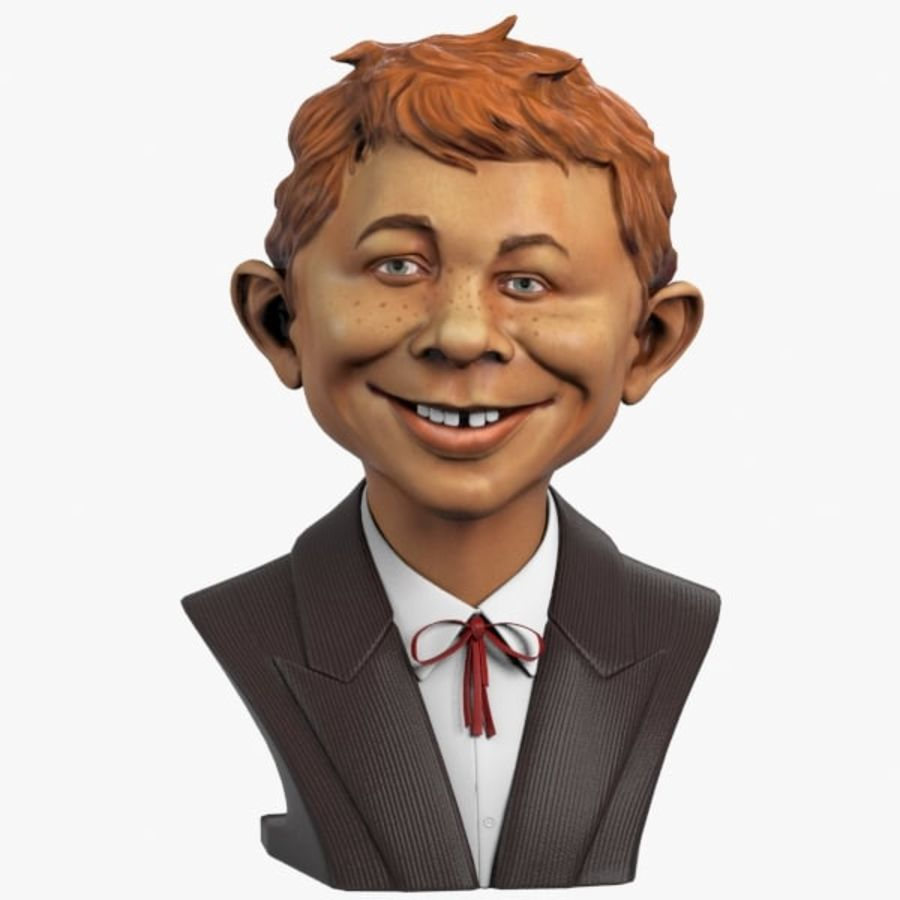 Alfred E. Neuman Bust royalty-free 3d model - Preview no. 1