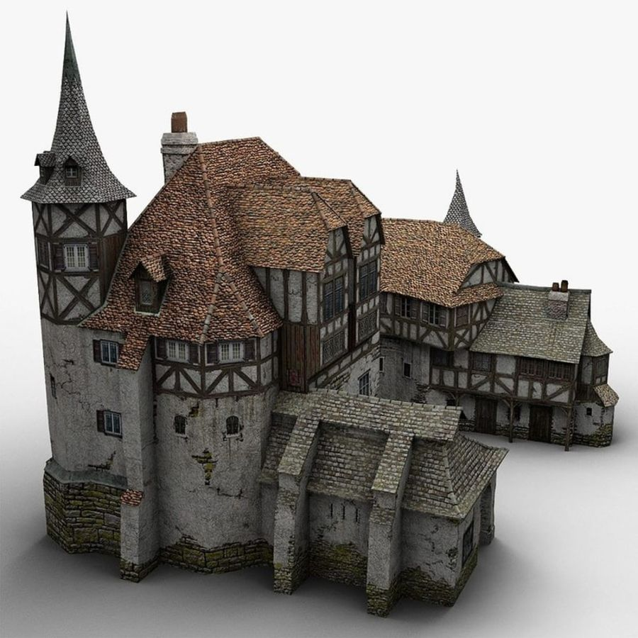 Medieval Warehouse royalty-free 3d model - Preview no. 4