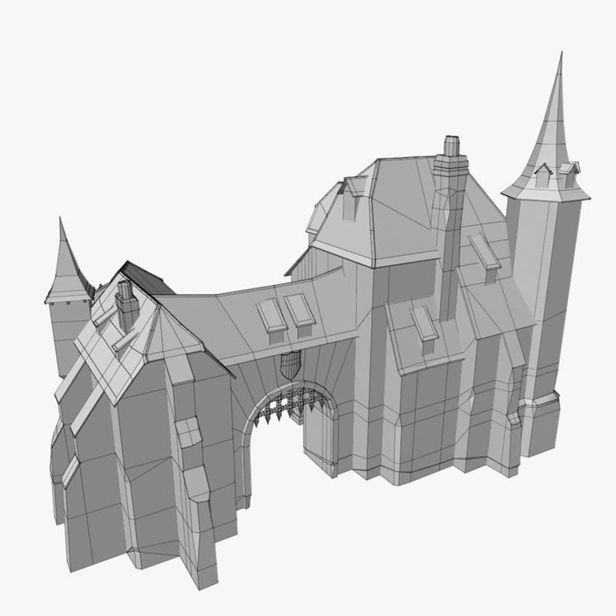 Medieval Warehouse royalty-free 3d model - Preview no. 14