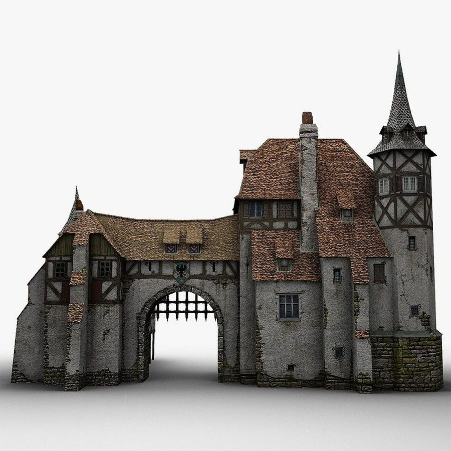 Medieval Warehouse royalty-free 3d model - Preview no. 9
