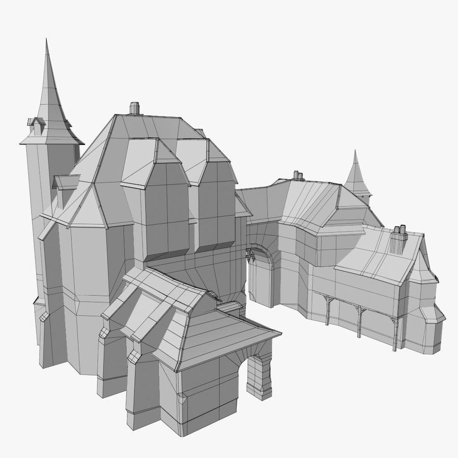 Medieval Warehouse royalty-free 3d model - Preview no. 15