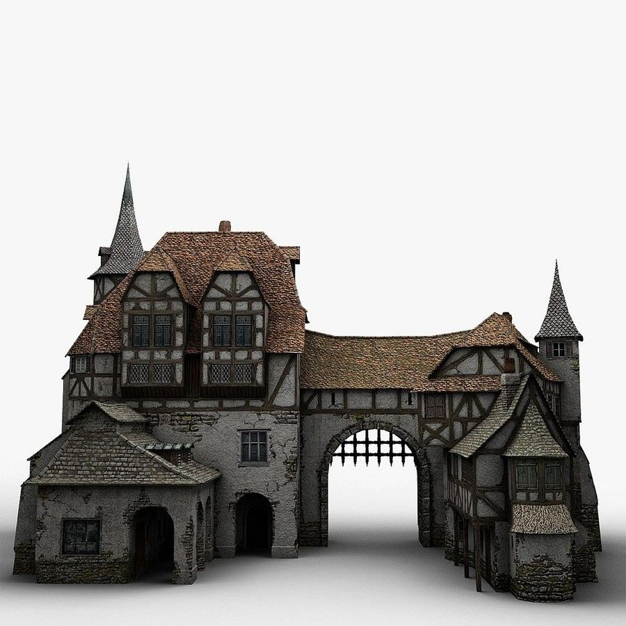 Medieval Warehouse royalty-free 3d model - Preview no. 11