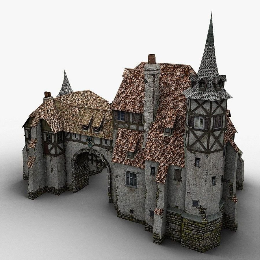Medieval Warehouse royalty-free 3d model - Preview no. 3