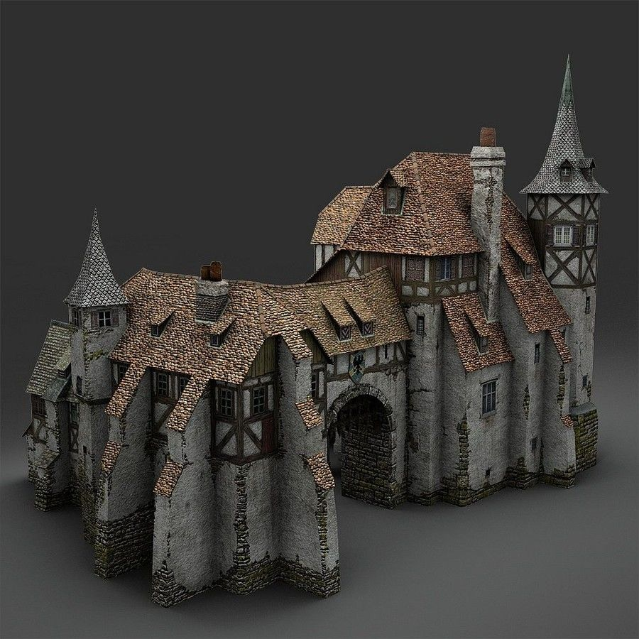 Medieval Warehouse royalty-free 3d model - Preview no. 2