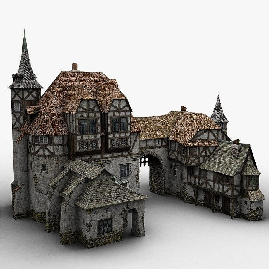 Medieval Warehouse royalty-free 3d model - Preview no. 5