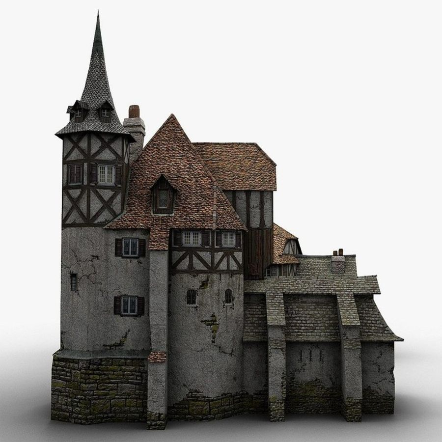 Medieval Warehouse royalty-free 3d model - Preview no. 10