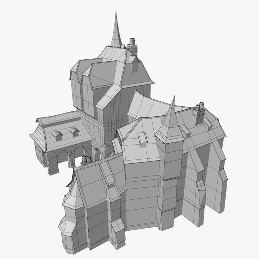 Medieval Warehouse royalty-free 3d model - Preview no. 16