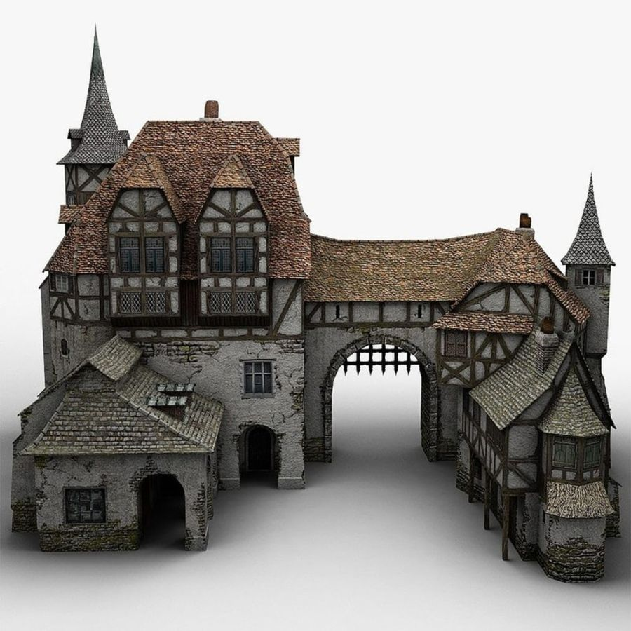Medieval Warehouse royalty-free 3d model - Preview no. 6