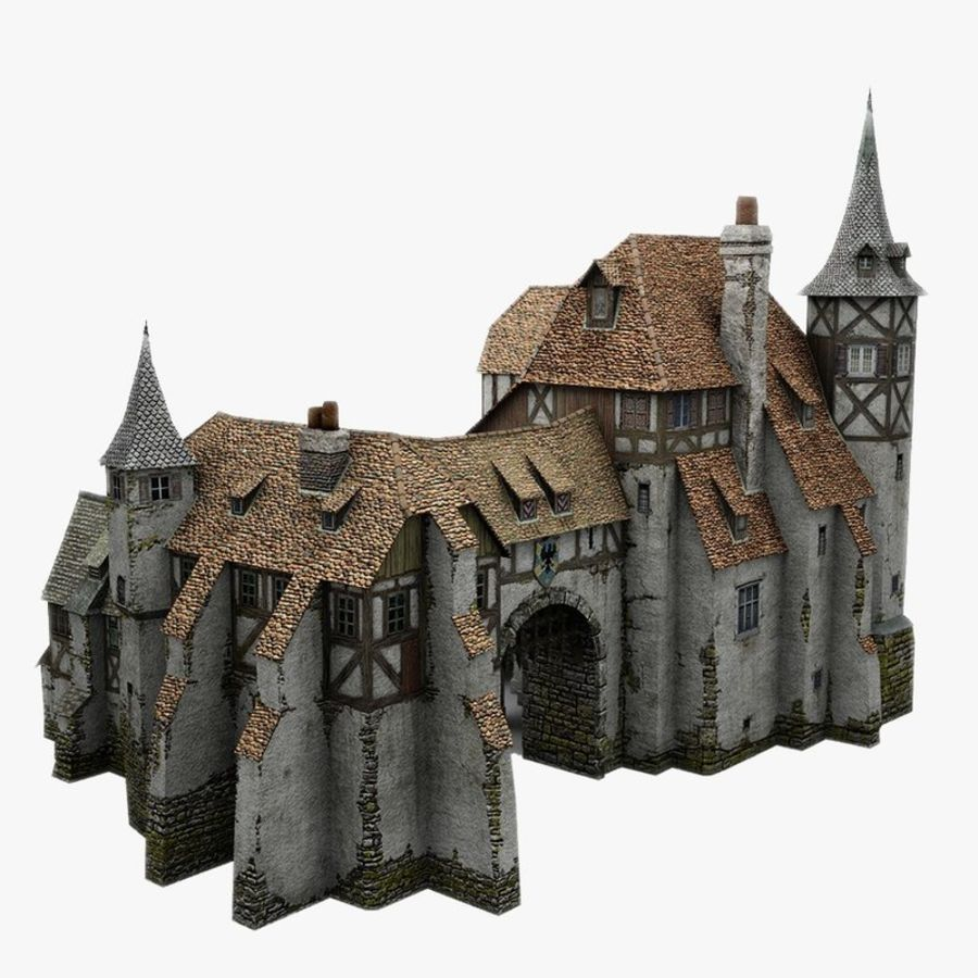 Medieval Warehouse royalty-free 3d model - Preview no. 1