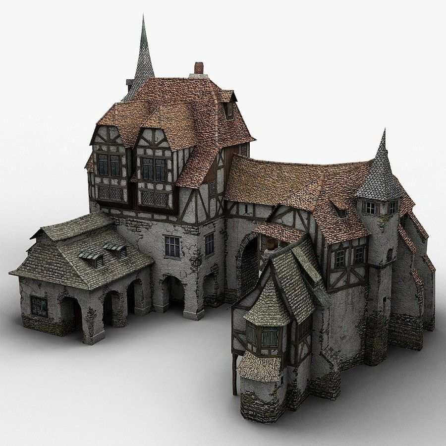 Medieval Warehouse royalty-free 3d model - Preview no. 7