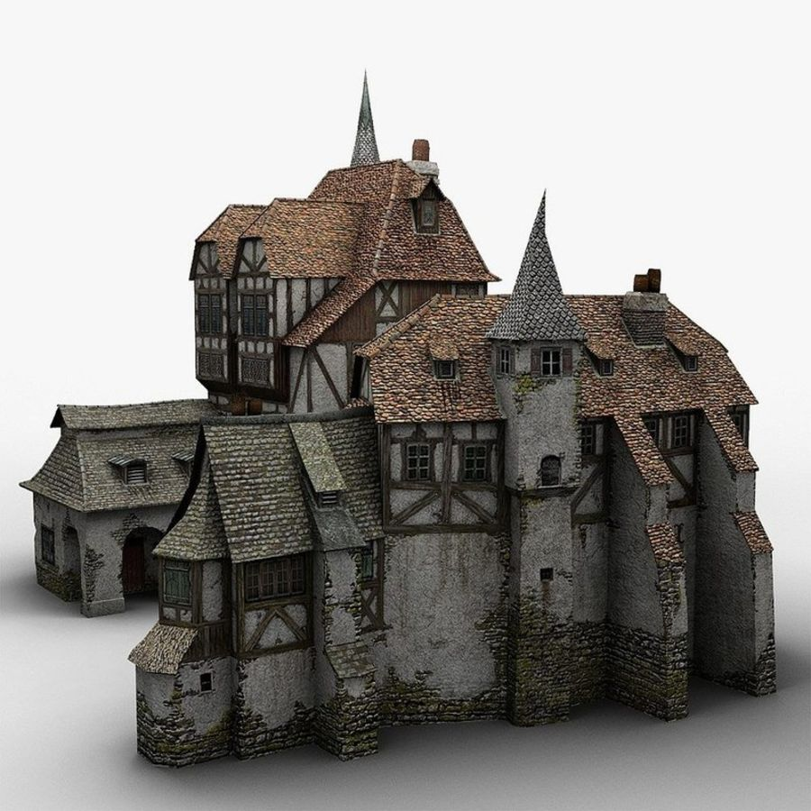 Medieval Warehouse royalty-free 3d model - Preview no. 8