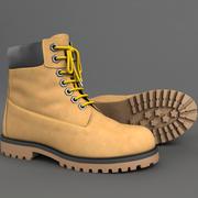 Realistic Boots 3d Model 3d model