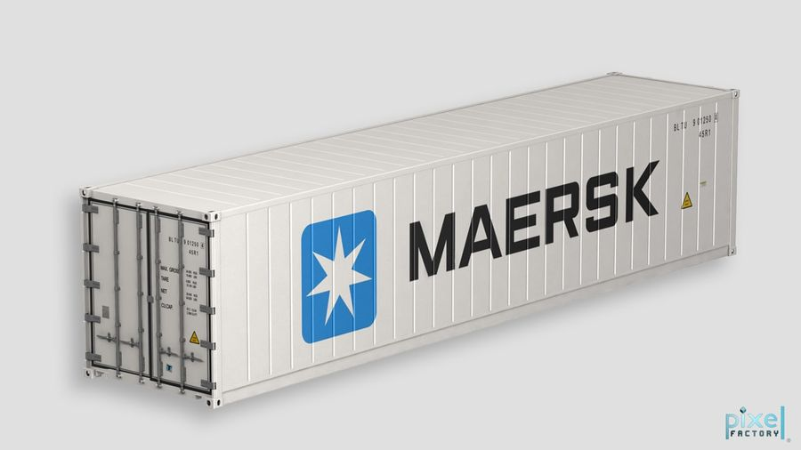 40 feet reefer Container royalty-free 3d model - Preview no. 2