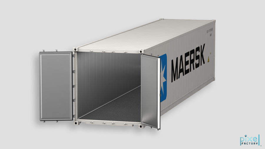 40 feet reefer Container royalty-free 3d model - Preview no. 6
