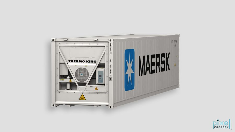 40 feet reefer Container royalty-free 3d model - Preview no. 4