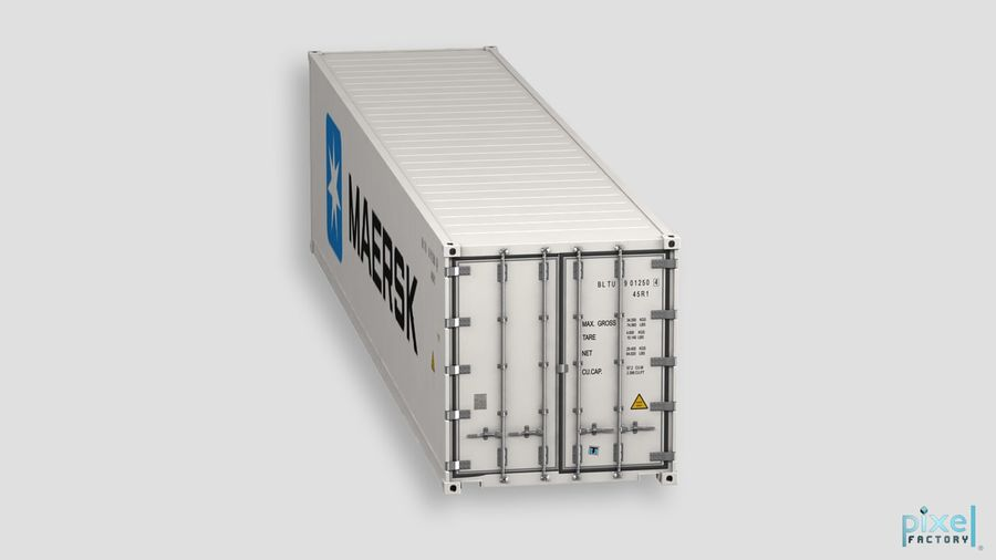 40 feet reefer Container royalty-free 3d model - Preview no. 3