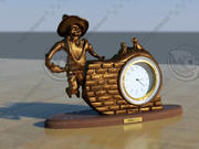 Bronze Clock 3d model
