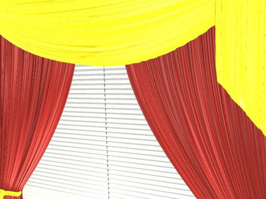Beautiful Curtain royalty-free 3d model - Preview no. 4