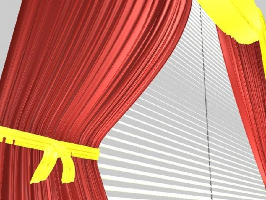 Beautiful Curtain royalty-free 3d model - Preview no. 6