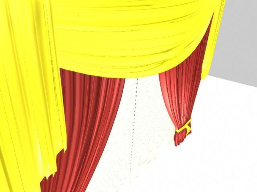 Beautiful Curtain royalty-free 3d model - Preview no. 1