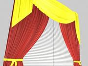 Beautiful Curtain 3d model