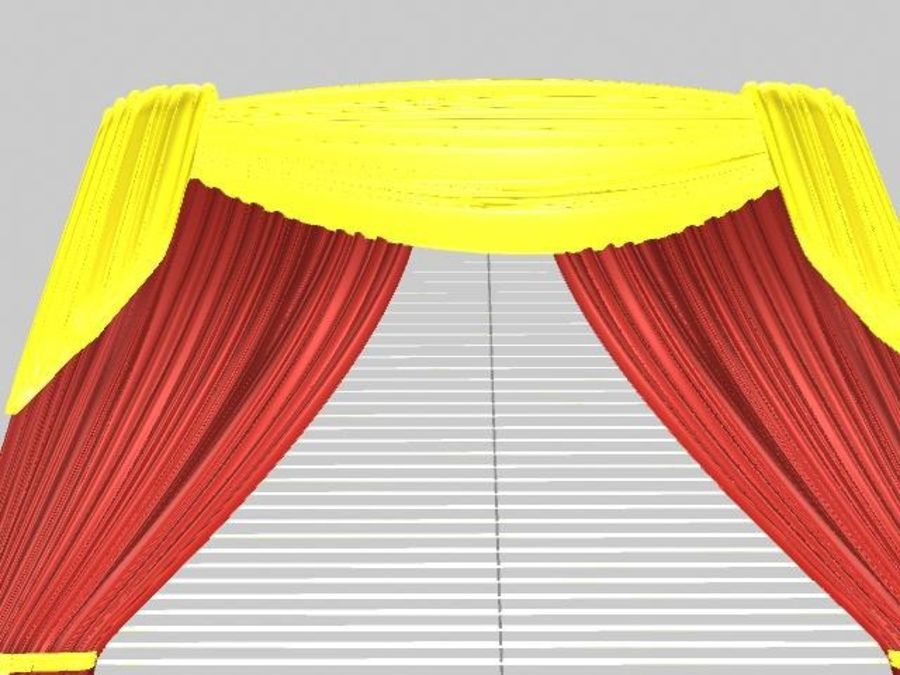 Beautiful Curtain royalty-free 3d model - Preview no. 3